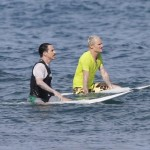 Anthony Kiedis Flea Michael Balzary Surfing St Barts Island December 29th 2011 Red Hot Chili Peppers RHCP