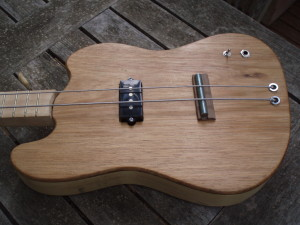2-string cigar box bass detail