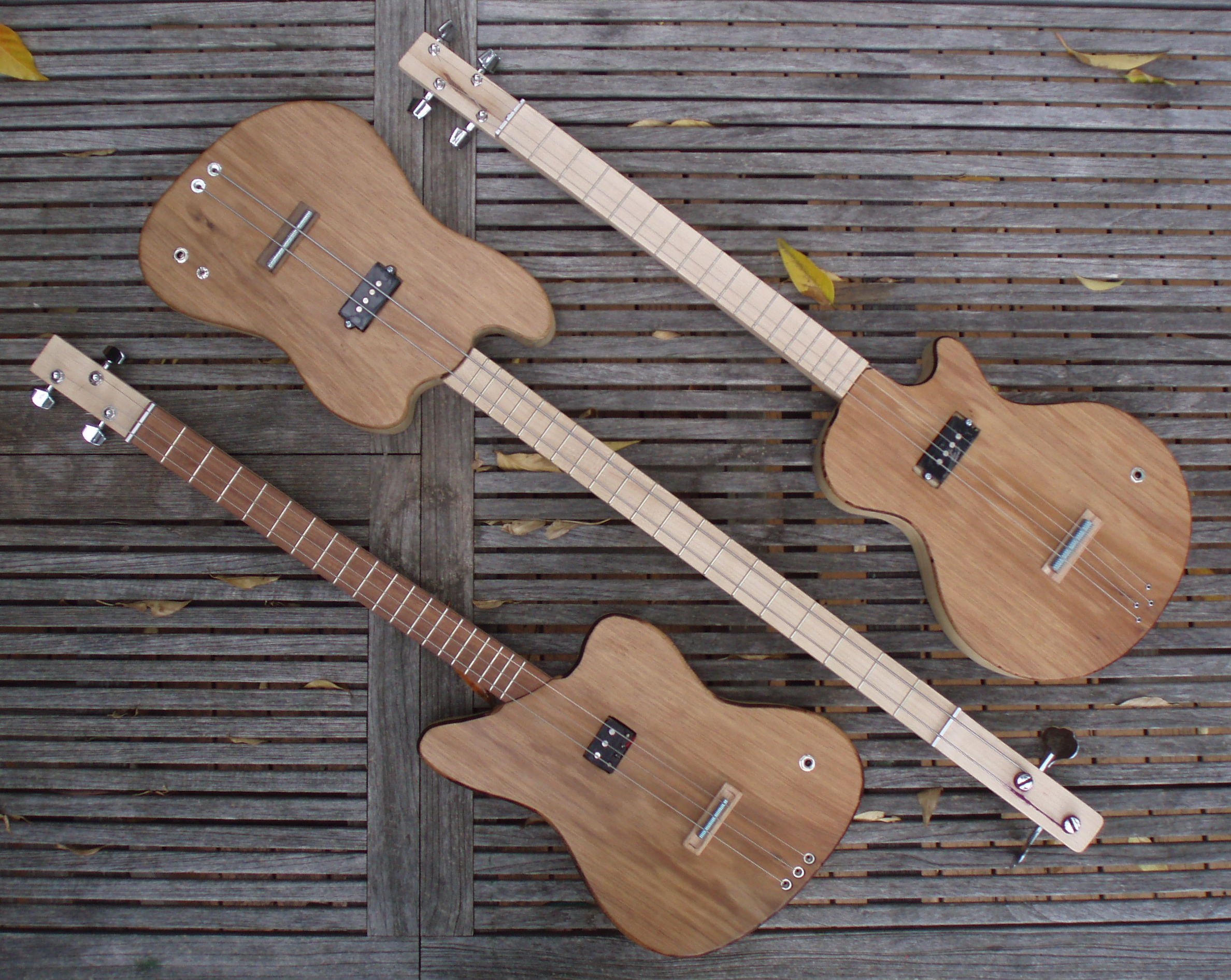 three-string custom box guitar