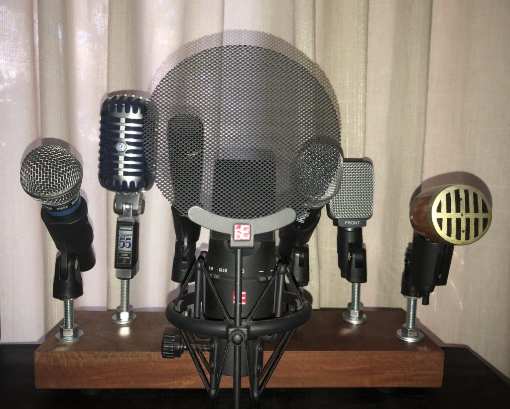 Diy Microphone Stand The Cavan Project Electronic Projects Simple Finally Mount A Few Mic Clips And Good To Go Job That Was Very Cheap Easy Makes Nice Piece In Music Room